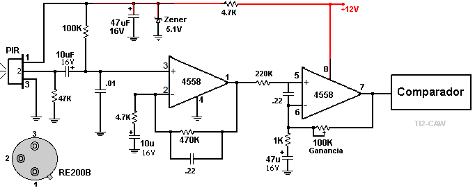 motion sensor circuit schematic