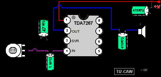 Circuito Amplificador : Construir amplificadores de audio baja potencia tambien