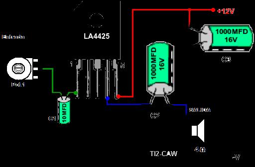 amplificador LA4425 o LA4425A
