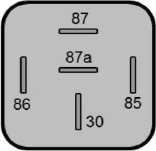 Rele de 5 pines diagrama